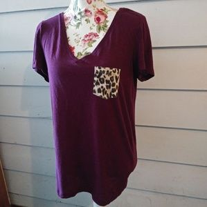 VS PINK animal print pocket shirt